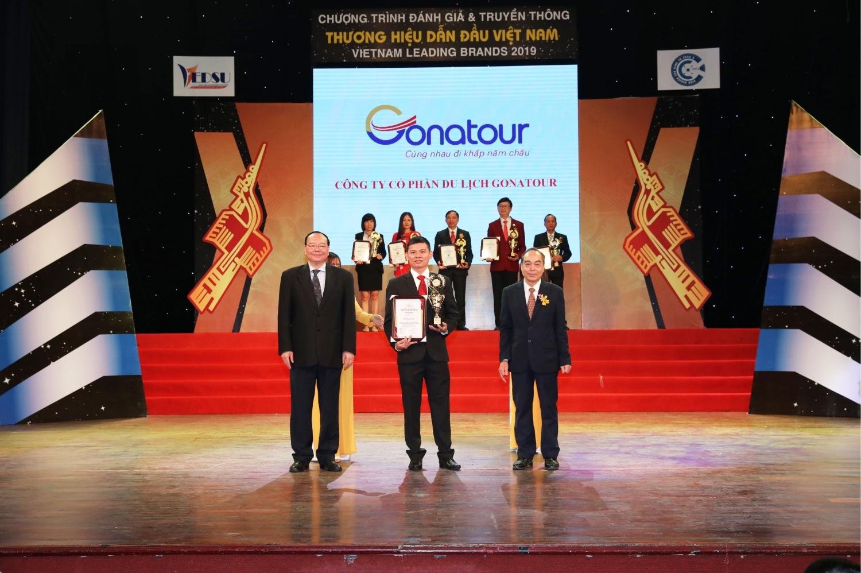 Du Lịch Gonatour - Vinh Danh Tại Top 10 Thương Hiệu Dẫn Đầu Việt Nam 2019