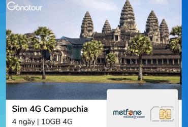 Sim Du Lịch Campuchia - 10GB