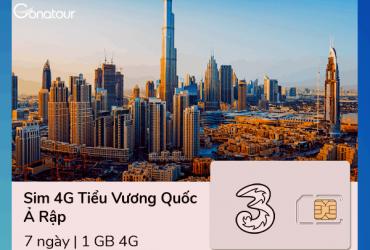 Sim Du Lịch Dubai - 1GB