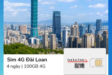 Sim Du Lịch Đài Loan - 100GB