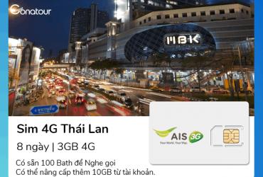 Sim Du Lịch Thái Lan - 3GB