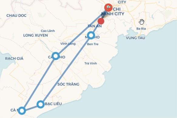 Sài Gòn - Sóc Trăng - Bạc Liêu - Cà Mau - Cần Thơ ( 4N3D)