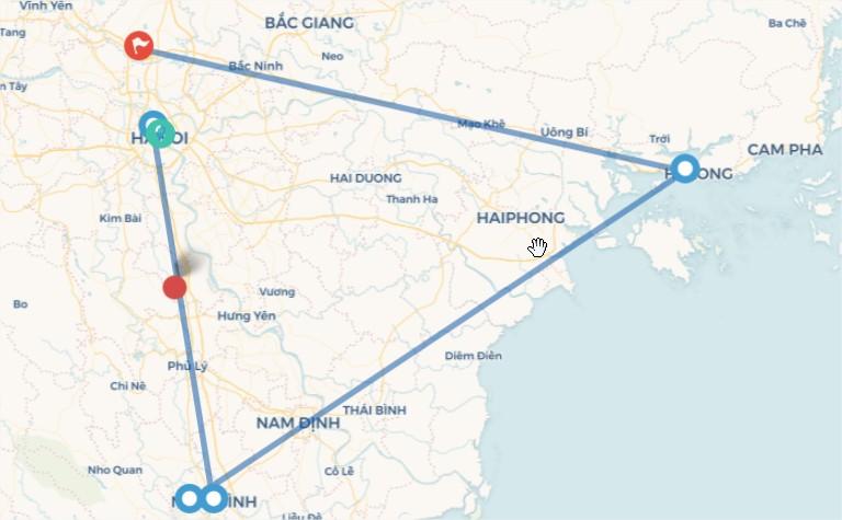 Tour HÀ NỘI-TRÀNG AN-BÁI  ĐÍNH-HẠ LONG–KDL YÊN TỬ