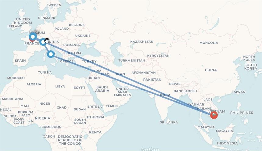 Tour Du Lịch 3 nước châu âu Pháp-Thụy Sỹ-Ý