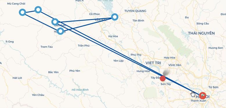 Du lịch Đông Bắc: Nội Bài – Yên Bái - Thác Bà - Nghĩa Lộ - Mù Cang Chải – Tú Lệ  (Áp dụng cho 10 Khách)